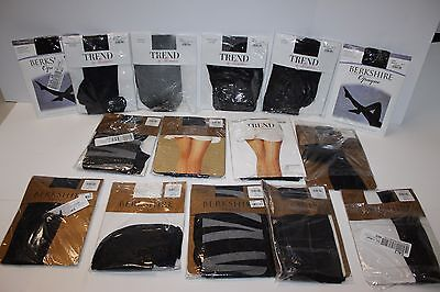 Lot of 15 Berkshire Opaque Trendy Silky Sheer Soft Pantyhose Size 3-4 Nylons Hot