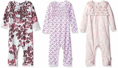 Burt's Bees Baby Girls' Long Sleeve Organic Footless Coverall, 3 Colors