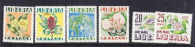 Liberia 1955 Flowers  set.- Mint