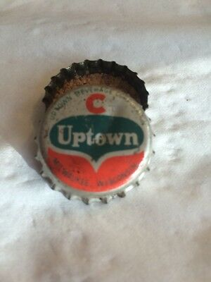 "Vintage ""uptown"" Soda Bottle Cap-Used Cork Lined Milwaukee, Wisconsin"