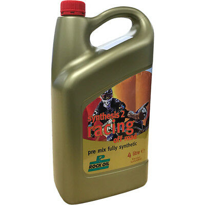 Rock Oil NEW Mx 4L Synthesis 2 Racing Fully Synthetic 2 Stroke Engine Oil