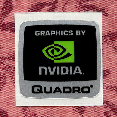 Graphics by Nvidia Quadro Sticker 18 x 17.5mm Case Badge Logo Label USA Seller