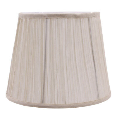 Pleated Shade Beige Lampshade for Table Lamp or Ceiling Cover Holder H25cm
