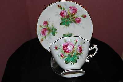 "Hammersley "" Grandmother's Pink Rose"" Tea Cup/Saucer set"