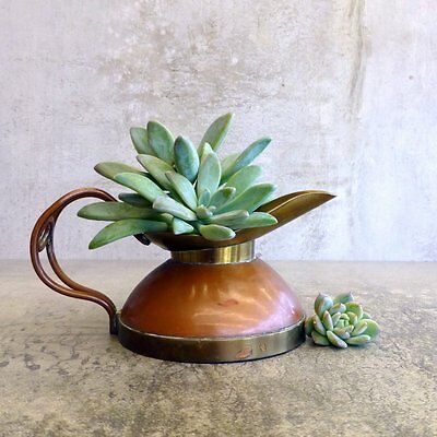 Vintage Brass Copper Small Jug DISPLAY ONLY Rustic Aged Patina Country Decor