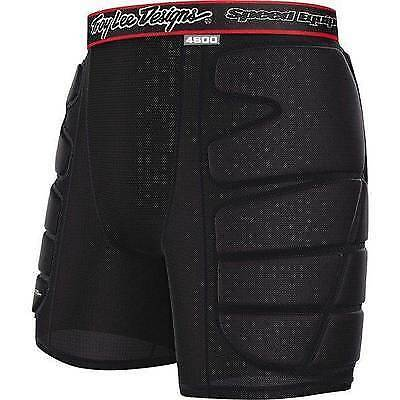 Troy Lee Designs PADDED IMPACT SHORTS BLACK/ RED in XL
