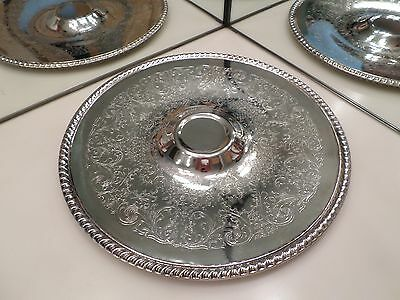 International Silver Co. Silverplated 12 1/4 Inch Platter With Rope Design Edge