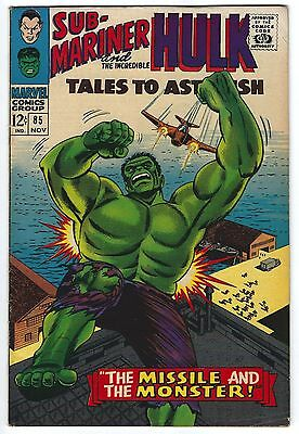 Tales to Astonish #85 7.0 FN/VF The Hulk Silver Age Marvel Comic Book Classic