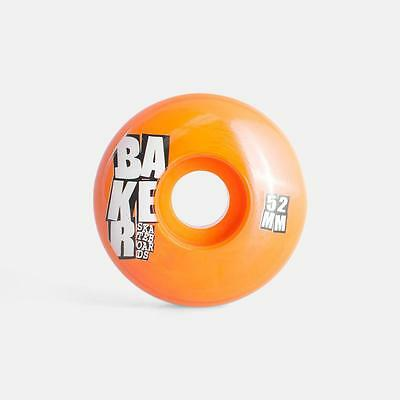 BAKER Skateboard Rollen *Stacked* Set, 52 mm, 101A orange