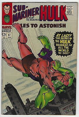 Tales to Astonish #87 7.5 VF- The Hulk Silver Age Marvel Comic Book Classic