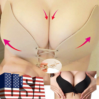 Silicone Gel Invisible Bra Self-adhesive Push Up Strapless Backless Stick On