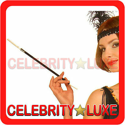 New 30cm Long Cigarette Holder 20s Flapper Gangster Burlesque Black Smoking Pipe