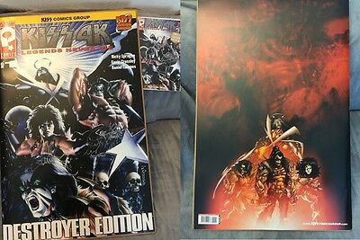 KISS 4K Destroyer Ed. 20x30 WORLD RECORD COMIC BOOK Oversized Signed x 2 - PLUS