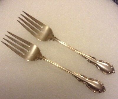pair of towle legato sterling silver salad forks