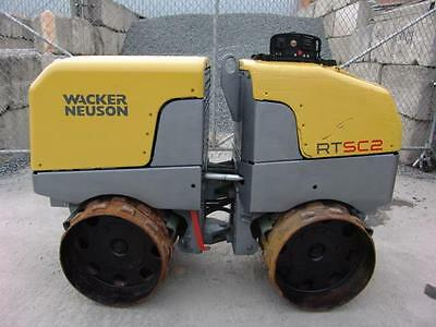 2011 Wacker Neuson Rtsc2 Padfoot Trench Roller W/remote  679 Hours Works Great