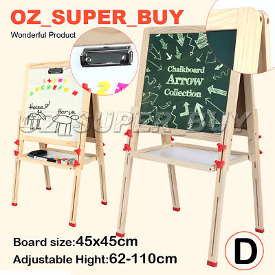 Adjustable Height Wooden Artist Easel 4 In 1 Magnetic Board White Board AU STOCK