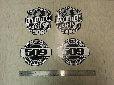 509 SNOWMOBILE STICKER / DECAL LOT - 4 STICKERS - Each Approx. 8 Inches - NEW!