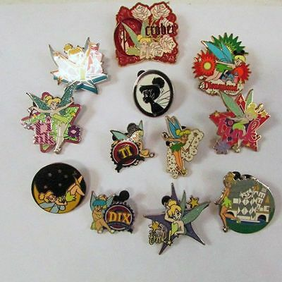 Lot of (12) Assorted Disney Tinkerbell Trading Pins