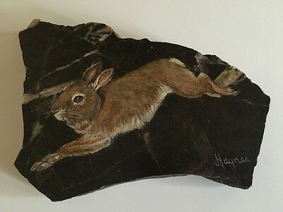 Hare Painted On A Stone by Haynes