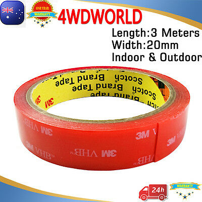 3M VHB Double-sided Clear Transparent Acrylic Adhesive Tape 20mmX3m OZ