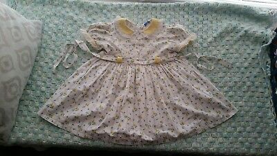Vintage baby childrens Tiny town togs dress