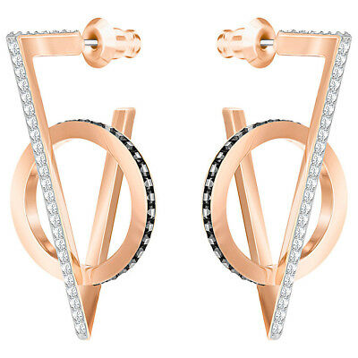 NEW Swarovski Hero Triangle Rose Gold Pierced Earrings