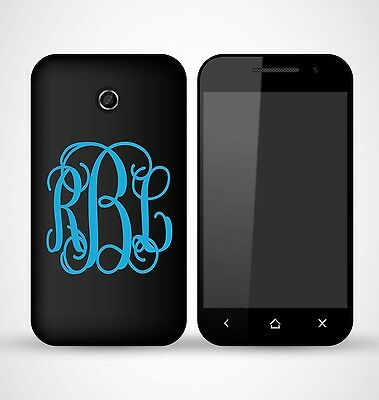 """Monogram Vinyl Decal for IPhone, Android, Smartphone, LG, Personalized (2"""")"""