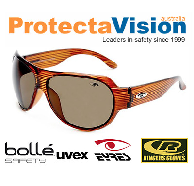 Eyres WOW Safety Glasses/Sunglasses - Brown Frame - Brown Lens