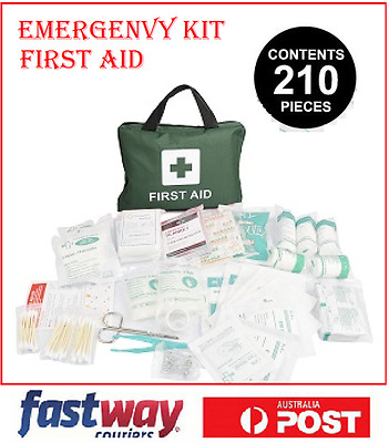 210 piece First Aid Kit Survival Medical Workplace Travel Set For Family Safety
