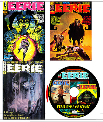 Eerie Comics 143 issues & Specials on 2 DVDs (Warren)