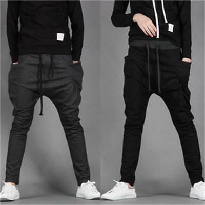 Men's Casual Baggy HIP HOP Dance Jogger Dance Sport Sweat Pants Harem Trousers l