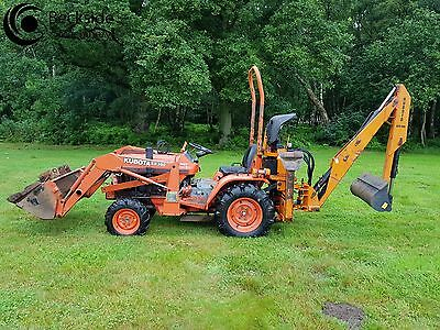 Kubota B1550D  Compact Tractor 4WD  with Front Loader & Backhoe Digger
