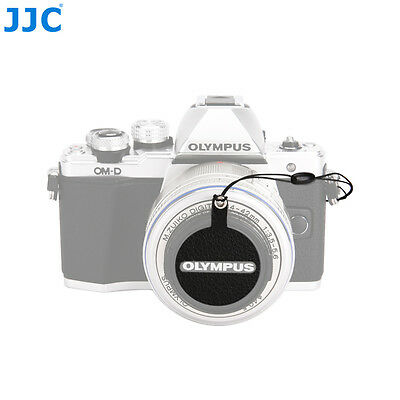 JJC Leather Stickup Lens Cap Keeper Anti-lost Cover for Olympus LC-40.5 Lens Cap