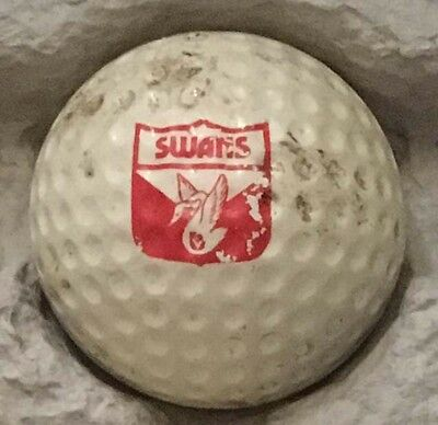 Vintage golf ball with logo - VFL South Melbourne Swans