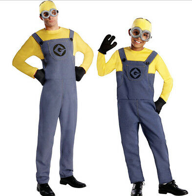 Dave Minions Fancy Dress Party Despicable ME 2 Minion Mens family Costume Outfit