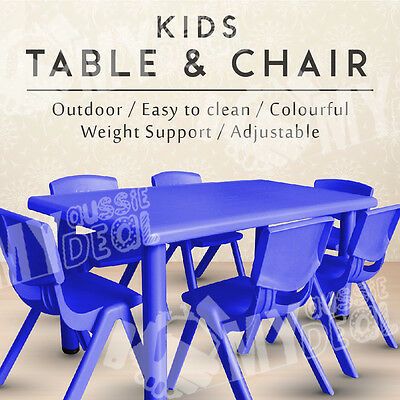 Kids Safety Plastic Round Corner Design Large Table and Chairs Melbourne Stock
