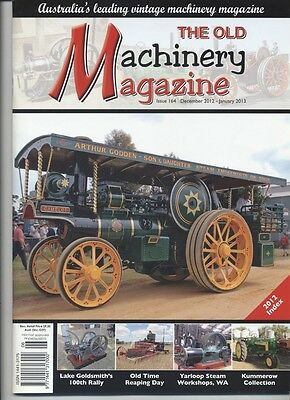 The Old Machinery Magazine TOMM  issue 164 December 2012- January 2013