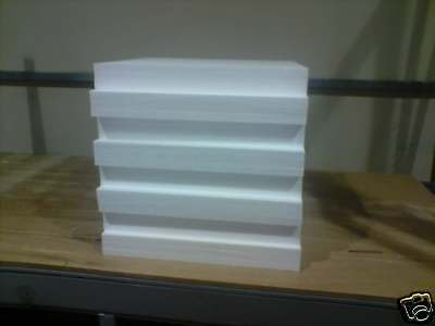 Polystyrene Sheets 600mm x 600mm x 75mm boxed in 8s