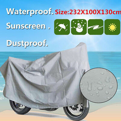 Portable Waterproof Bicycle Bike Rain Cover Motorcycle Scooter UV Protector L
