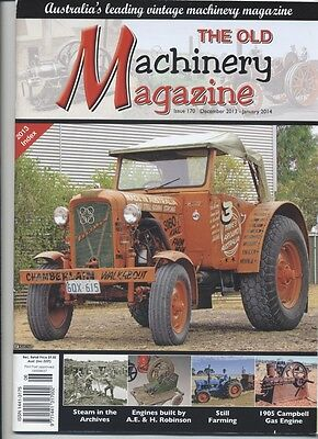 The Old Machinery Magazine TOMM  issue 170 December 2013-January2014