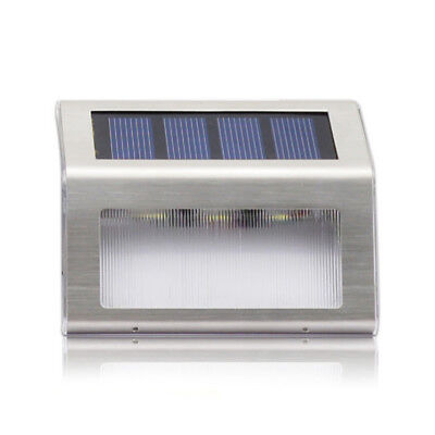 AU Solar Power Light Sensor 1/2PCS 2LED Wall Light Garden Step Stair Deck Lights