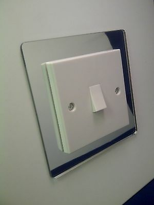 5 X Single Light Switch Surround Mirror Acrylic Perspex® Finger Plate