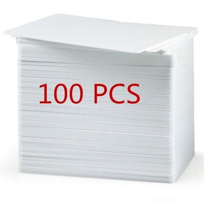 100pcs White Plastic PVC Cards Blank CR80 30mil For ID Card Printers Lastest BL1