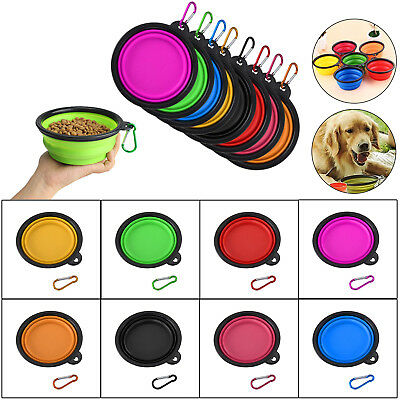 Silicone Collapsible Travel Silicone Portable Pet Food Dog Water Bowl
