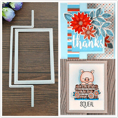 Rectangle Metal Cutting Dies Stencil Scrapbooking Card Paper Embossing Craft DIY