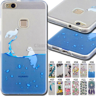 For Huawei P10 Lite Protective TPU Soft Case Cover Silicone Shockproof Skin Back