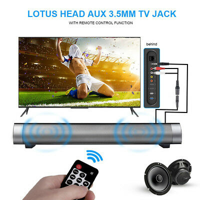 New Wireless Bluetooth Speaker Subwoofer Theater Soundbar with Remote Control