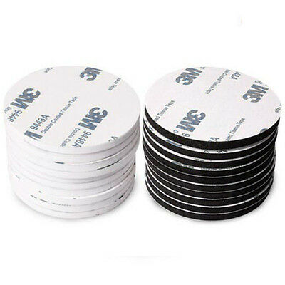 30mm 3M Black Double Sided Foam Tape Adhesive Round Patch Pad Circles