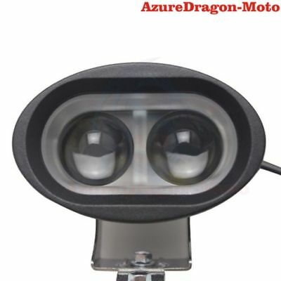 Black 20W 4D LEN Spot Beam LED Spotlight Motorcycle Fog Driving Light for Harley