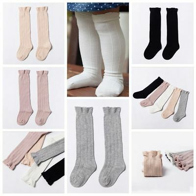 Soft Unisex Baby Knee High Socks Toddler Girls Cotton Tights Leg Warmer Stocking